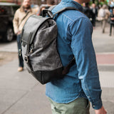 CORONADO BLACK REDWOOD BISON LEATHER BACKPACK