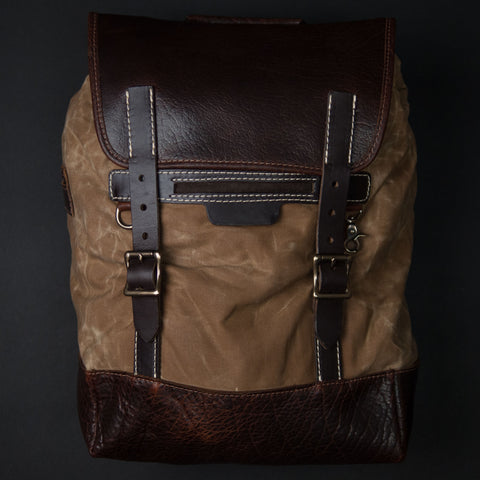 Coronado Leather Walnut Redwood Bison Backpack at The Lodge
