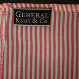 ROSE & IVORY PINSTRIPE POCKET SQUARE