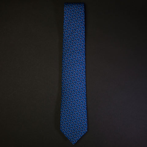 General Knot Royal Blue Foulard Print Men's Tie at The Lodge