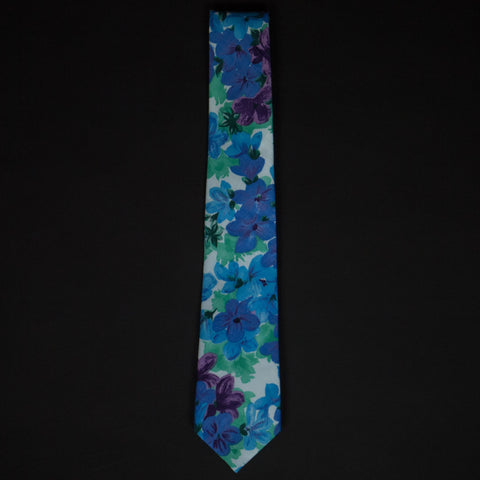1950S SHADY LAKES & JADE FLORAL TIE