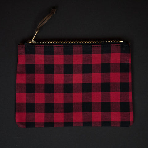 General Knot Buffalo Check Zip Organizer Small at The Lodge