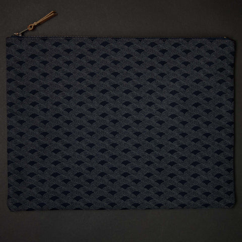 General Knot Japanese Waves Zip Pouch at The Lodge