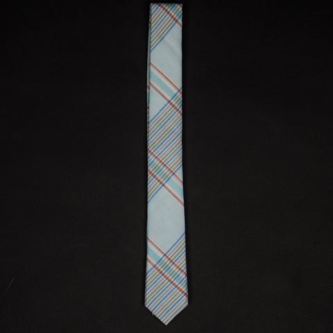General Knot & Company Waterfront Plaid Skinny Tie