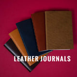 BROWN LEATHER POCKET JOURNAL