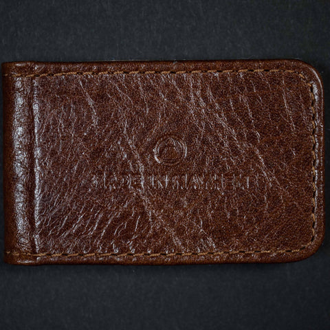 HAMILTON SOFT LEATHER MONEY CLIP TOBACCO - THE LODGE  - 1