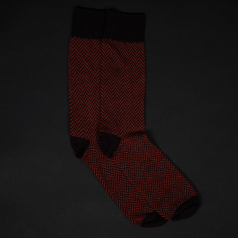 COPPER FLATIRON MERINO WOOL SOCKS - THE LODGE  - 1