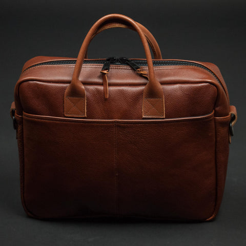 WINSTON TAN SOFT LEATHER BRIEFCASE - THE LODGE  - 1