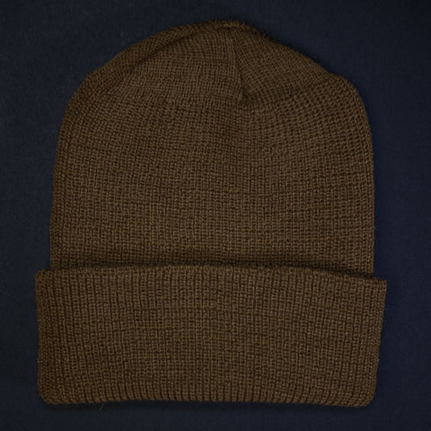 Khaki West Point Wool Knit Hat at The Lodge