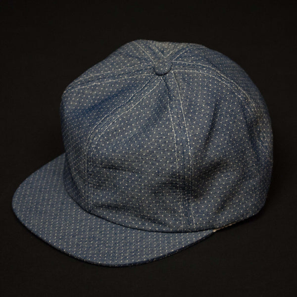 KNICKERBOCKER BLUE/WHITE DOTS BALL CAP - THE LODGE  - 1