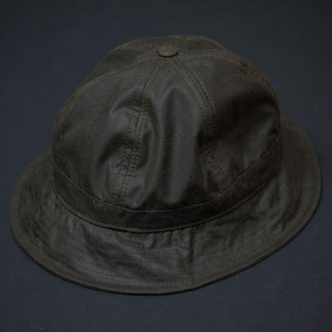 KNICKERBOCKER WAXED BUCKET HAT OLIVE - THE LODGE  - 1