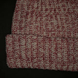 ADIRONDACK RED HEATHER COTTON KNIT HAT - THE LODGE  - 2