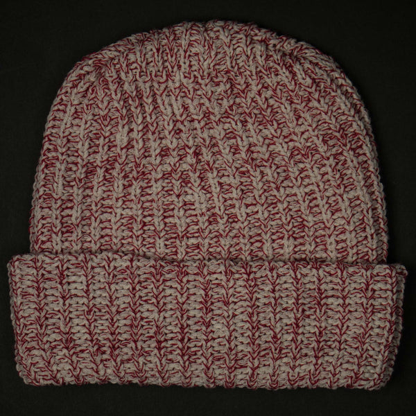 ADIRONDACK RED HEATHER COTTON KNIT HAT - THE LODGE  - 1