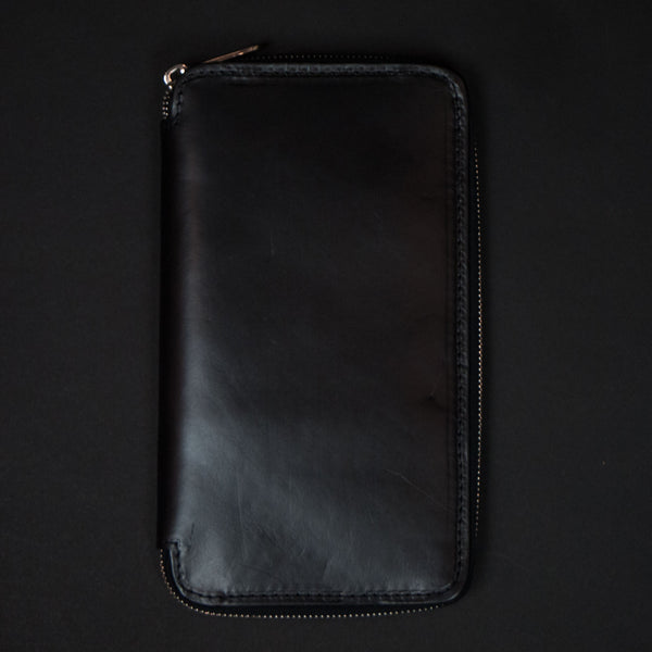 Laulom Black Leather Zip Travel Organizer at The Lodge