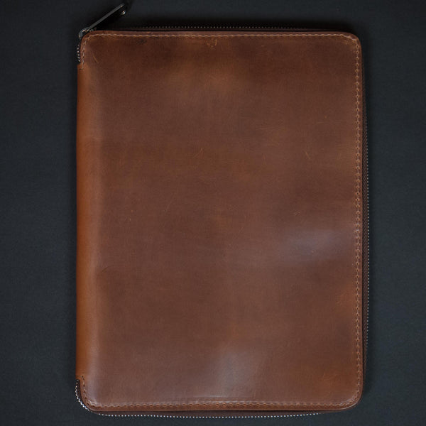 Laulom Tan Horween Leather Zip Ipad Case at The Lodge