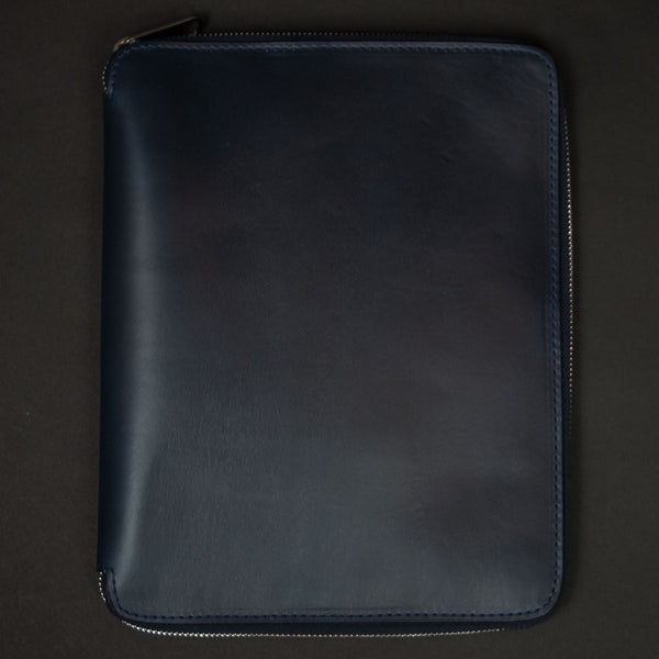 Laulom Navy Horween Leather Zip Ipad Case at The Lodge
