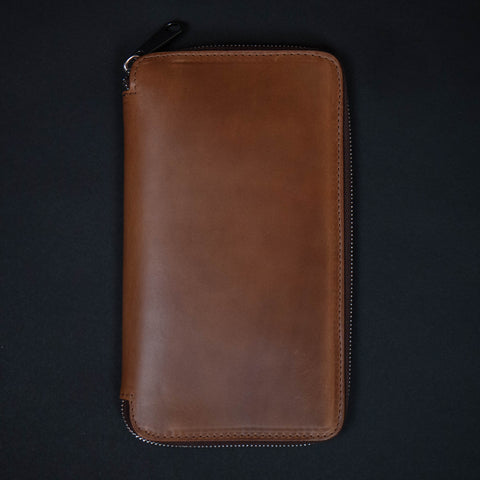 Laulom Tan Zip Travel Leather Organizer at The Lodge