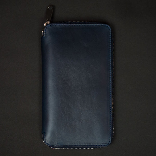 Laulom Navy Leather Zip Travel Organizer at The Lodge