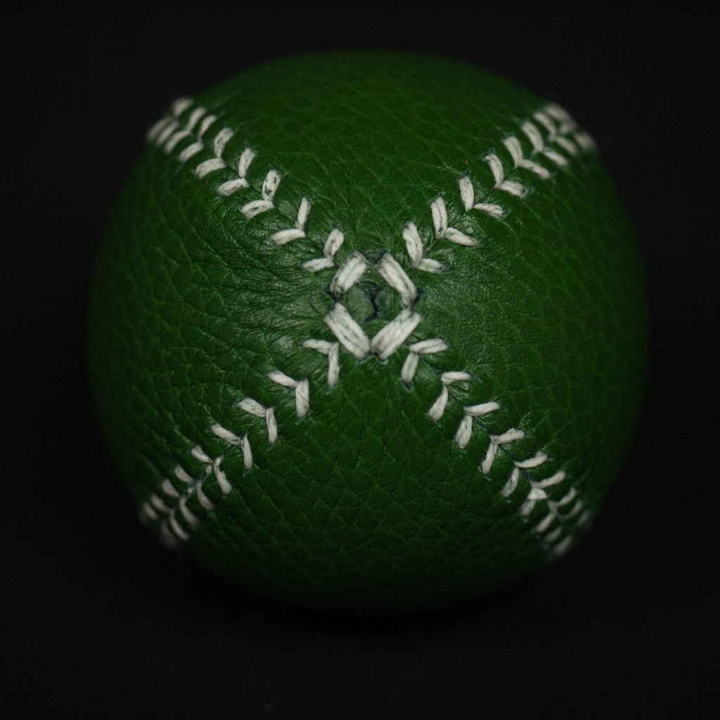 GREEN LEATHER LEMON BALL BASEBALL - THE LODGE  - 3