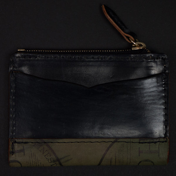 Laulom Black Cordovan Zip Coin Wallet at The Lodge