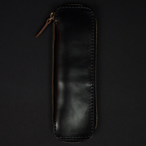 Laulom Black Cordovan Zip Pen case at The Lodge