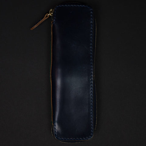 Laulom Navy Cordovan Zip Pen Case at The Lodge