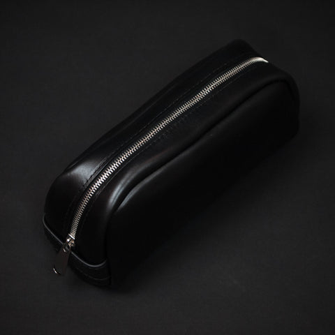 Laulom Black Horween Leather Dopp Kit at The Lodge