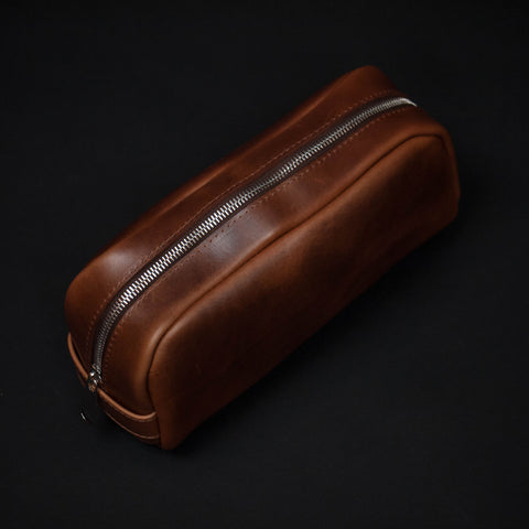 Laulom Tan Horween Leather Dopp Kit at The Lodge