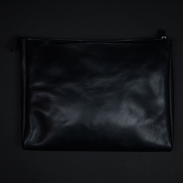 Laulom Black Horween Leather Folio Brief at The Lodge