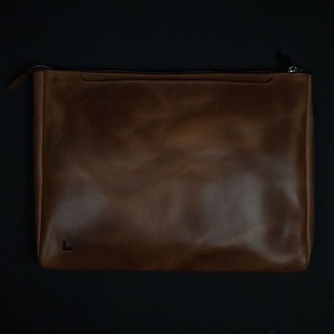 Laulom Tan Horween Leather Folio Brief at The Lodge