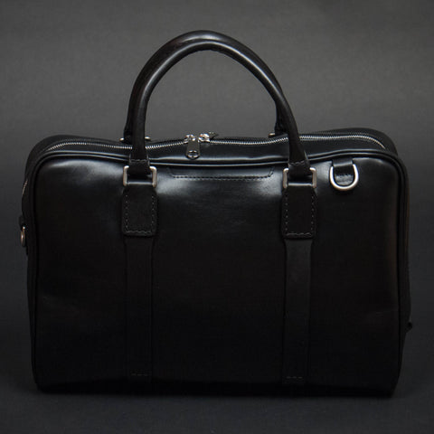 Laulom Black Horween Leather Briefcase at The Lodge