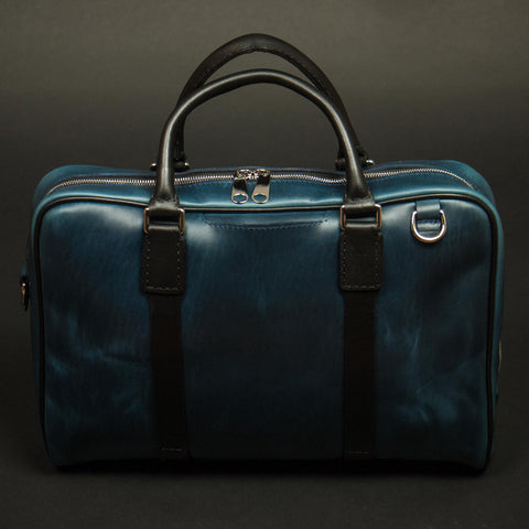 Navy Laulom Horween Leather Briefcase at The Lodge