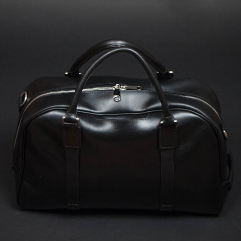 Laulom Black Leather Duffel Bag at The Lodge