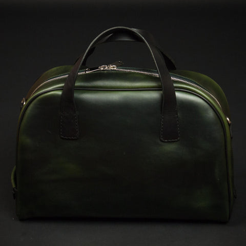 LAULOM MOSS GREEN LEATHER MEDIUM SAN DIEGO DUFFEL - THE LODGE  - 1