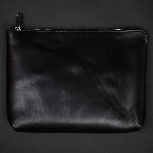 Laulom Black Horween Leather Zip Organizer at The Lodge