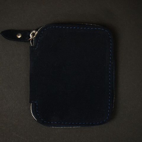 Laulom Full Zip Suede Wallet Navy at The Lodge