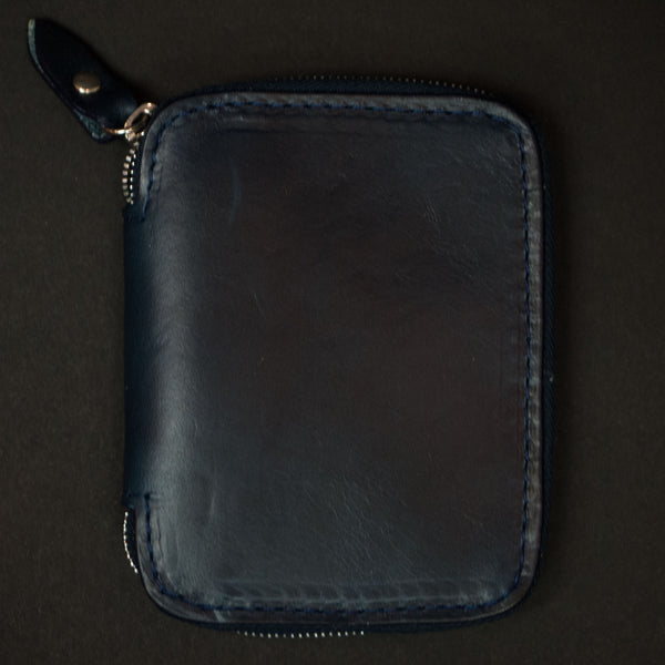 Laulom Navy Full Zip Leather Wallet at The Lodge