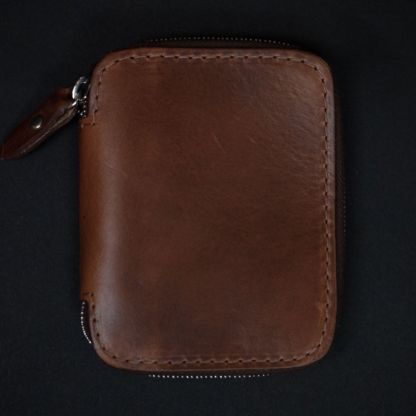 Laulom Tan Full Zip Leather Wallet at The Lodge