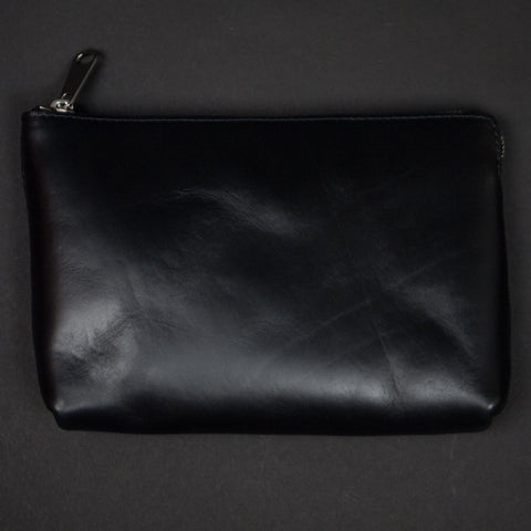 Laulom Black Horween Leather Utility Pouch at The Lodge