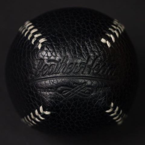 BLACK LEATHER LEMON BALL BASEBALL