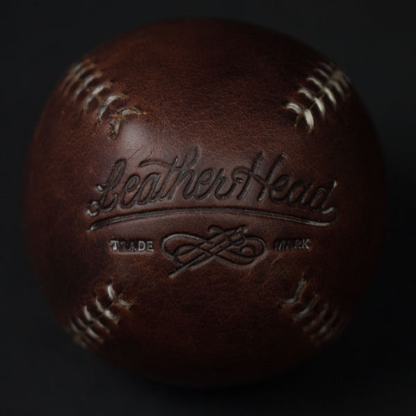 BROWN LEATHER LEMON BALL BASEBALL