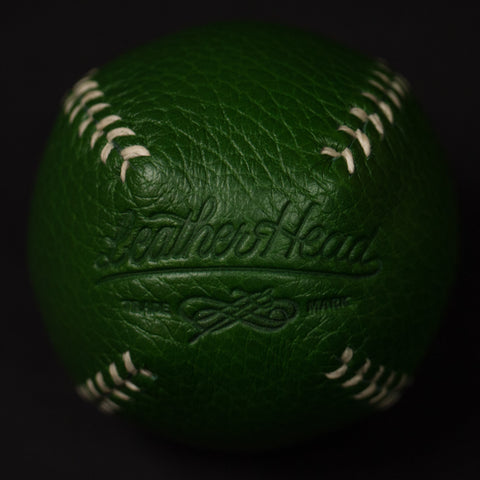 GREEN LEATHER LEMON BALL BASEBALL
