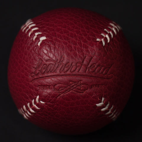 RED LEATHER LEMON BALL BASEBALL