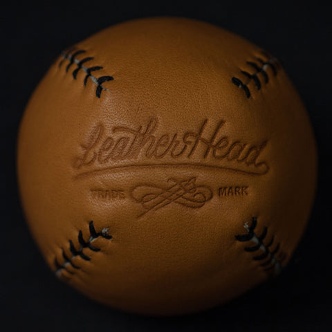 TAN LEATHER LEMON BALL BASEBALL