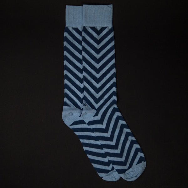 The Lodge Blue Market Volatility Cotton Socks