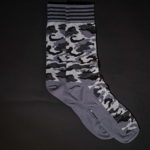 The Lodge Aberdeen Grey Camouflage Cotton Men's Socks