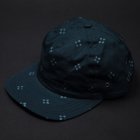 The Lodge Navy Ikat Print Baseball Cap at The Lodge