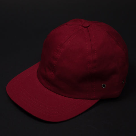 The Lodge Red Cotton Baseball Cap