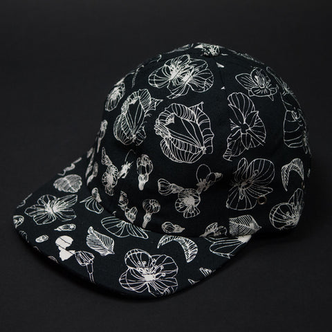 BLACK FLORAL PRINT MOUNT COLDEN BASEBALL HAT