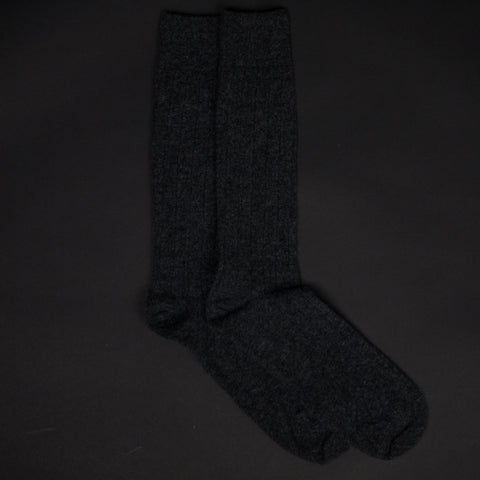 BLACK HEATHER THE SOFTEST CASHMERE SOCKS - THE LODGE  - 1